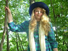 Vintage 1980's Dress  Blue and Green Plaid by ConstantlyAlice, $35.00