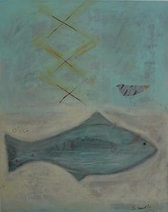 Fish and plover - Shirley Vauvelle