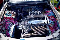 Graffiti Engine Bay.