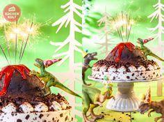 Folgt uns ins Reich der Urzeitriesen und erlebt einen abenteuerlichen Dino-Kindergeburtstag. Das Highlight: die Geburtstagstorte in Form eines Lavabergs mit kletterndem T-Rex. WOW!