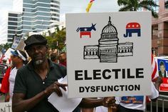 funny photos, funny picket signs, Electile Dysfunction