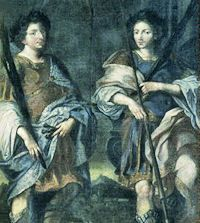 Sts. Marcus & Marcellianus http://www.catholicculture.org/culture/liturgicalyear/calendar/day.cfm?date=2016-06-18 Saint Marcus and Saint Marcellianus were twin brothers of an illustrious family in Rome, who had been converted to the Faith in their youth and were honorably married. #Catholic #Pray