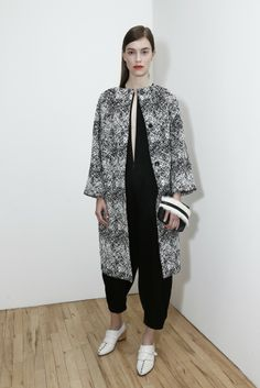 Model Eliza Hartmann for Zero   Maria Cornejo Resort 2015 - Slideshow http://www.wwd.com/runway/resort-2015/review/zero-maria-cornejo