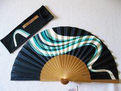 Abanicos - Abanico pintado a mano Brisa - hecho a mano por bosquedecolor en DaWanda