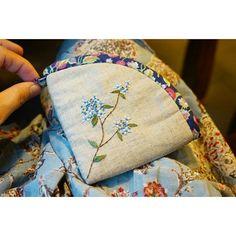 #자수 #야생화자수 #서양자수 #동전지갑 #카드지갑 #퀼트 #퀼트지갑 #퀼트동전지갑 #바비아줌마 #embroidery #handembroidery #embroiderydesign #handmade #quilt #산수국