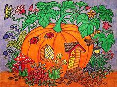 ColorIt Blissful Scenes Colorist: Tina Lee #adultcoloring #coloringforadults #adultcoloringpages #blissfulscenes