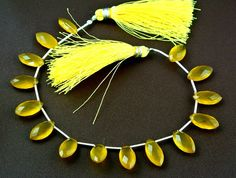 15Pcs as a matched pair AAA Yellow Chalcedony by RareGemsNJewels, $19.99