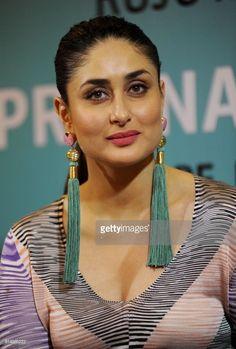 Indian Bollywood actress Kareena Kapoor Khan looks on during the...