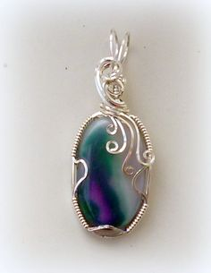 One Of A Kind Designer Agate Pendant Wrapped by JadaminJewellery, £28.00