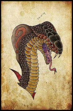 Cobra tattoo design #draw #drawing #art #artist #tattoo  #tattoodesign #neotraditional #snake