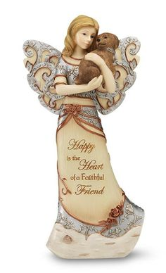 Angel of Warm Embrace Angel Figurine You are Surrounded by Love and Light Healing Angel Figurine Memorial Gifts Hand-Painted Figure 6.3 Inch