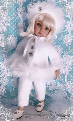 *Snowflakes* Ensemble for Effner Little Darling made by Specialdee Designs- OOAK