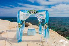 Эльфийская свадебная арка аквамарин. Sky blue wedding arch