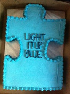 Gotcha Day, Fancy Cakes, Autism Awareness, Drink Sleeves, Crafts, Blue, Manualidades, Handmade Crafts, Craft