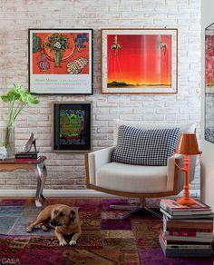 Blog de Decoração Perfeita Ordem: Tijolinho à vista ... Ideias para quem está construindo ou reformando Ao natural, mais rústico, ou pintado... Na sala, cozinha, lavabo, quarto, escritório... Seja onde for, deixa a casa mais aconchegante e bonita!