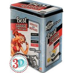 Nostalgic Μεταλλικό κουτί μεγάλο Best Garage - Blue