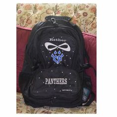 Cheer Athletics panthers worlds backpack I love this backpack and may not end up selling it, BUT I have so many backpacks, and could use the money for other stuff I need. So feel free to make an offer.  I bought it from a girl who was on panthers, and I have since used it a few times. It's in great condition! Nfinity  Bags Backpacks