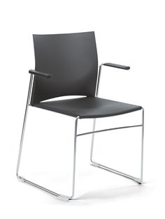 Sedere stacking chair with arms