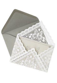 DIY Lace Doily Invitation Envelope