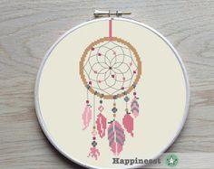 cross stitch pattern dreamcatcher modern cross stitch native