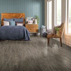 Room Scene for Ideal Candidate Engineered Tile - Dry Brush Charcoal D0004
