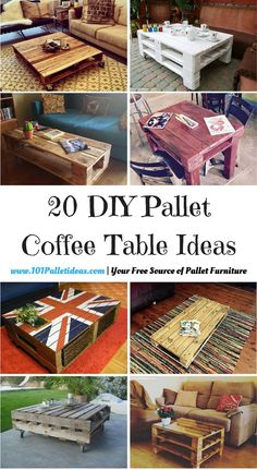 20 DIY Pallet Coffee Table Ideas | 101 Pallet Ideas