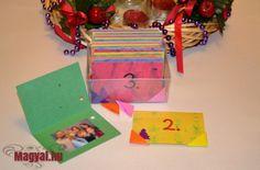 A gyerekek szívesen számolják a karácsonyig még hátra lévő napokat adventi naptárakon. Én sok éve készítek a gyerekeimnek és a férjemnek adventi naptárat. - Én adventi naptáram - advent - naptár Advent, Gift Wrapping, Gifts, Gift Wrapping Paper, Presents, Wrapping Gifts, Favors, Gift Packaging, Gift