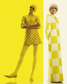 The How to Spend It A La Mod Photoshoot is Primarily Yellow #fashion trendhunter.com
