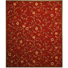 @Overstock - Create a bold look in your home with this dramatic area rug. The vibrant red background complements the gold flowers and other colors, and the rubber back keeps the rug from slipping and sliding across the floor.          http://www.overstock.com/Home-Garden/Ruby-Garden-Rug-710-x-910/6425562/product.html?CID=214117 $163.80