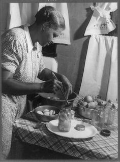 Madison County, Ala., 1941-1943(?)--Mrs. Frank Jacobs likes to can fruits and vegetables