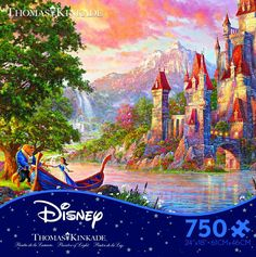 "Enjoy a magical night with Beauty and the Beast with this puzzle from Ceaco. - Manufacturer: Ceaco - Item # 2903-12 - 750 Piece - Size 24"" X 18"""