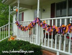Fun Home Things: DIY Outdoor Halloween Garland with lights. cost around $7
