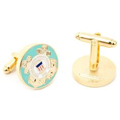 The official insignia of the United States Coast Guard. Celebrate our heroes with these commemorative cufflinks.