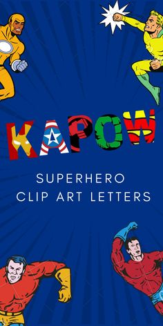Superhero letters you can use for everything you can imagine: DIY projects, crafting, invitations, w Avengers Birthday, Superhero Birthday Party, Boy Birthday Parties, 4th Birthday, Birthday Ideas, Superhero Alphabet, Superhero Classroom, Alphabet Letters, Superhero Door