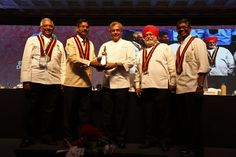 Chef Ajit Bangera being awarded at the 6th IFCA International Chefs Conference! #chefs #cook #recipes #ITC #Chennai #foodart #chefsart #finedining #chefsmeet #conference #culinary #chefstalk #kitchen #professionals #restaurants #foodculture #foodfest