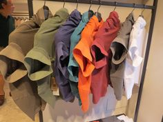 Interesting way these polo shirts were displayed. Photographed in a small boutique in Bergamo, Italy