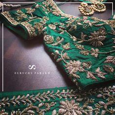 20 Latest Suruchi Parakh Lehengas For Budget Brides Wedding Saree Blouse Designs, Silk Saree Blouse Designs, Kurta Designs, Hand Work Blouse Design, Clothes For Women, Embroidery Blouses, Hand Embroidery, Zardozi Embroidery, Beaded Embroidery
