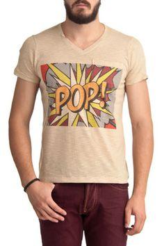 Short Sleeve POP T-Shirt in Camel