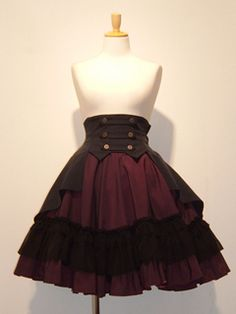 Atelier Boz Ed Mandia mini skirt in burgundy.