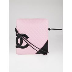Pre-owned Chanel Pink Quilted Leather Ligne Cambon Flat Large... ($825) ❤ liked on Polyvore featuring bags, handbags, shoulder bags, preowned handbags, pink crossbody purse, chanel shoulder bag, cross-body handbag and pink handbags
