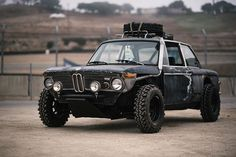 "When you've got an 02 and your build aesthetic is: ""Fuck it."" #bmw #2002 #awd #offroad #joyofmachine #ccfoto"