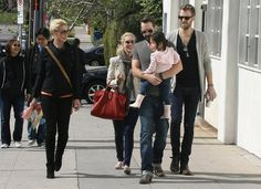 Katherine Heigl was joined by her husband, Josh Kelley, and daughter, Naleigh, for lunch in LA.