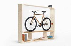 bike storage ideas and modern interior design Idee voor kidsroom: fiets in de winter in hun kamer, of later in de living kids (ons kamer).