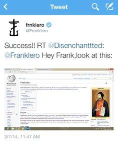 Frank Iero | tweet