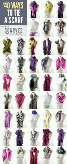 40 ways to knot a cashmere scarf from #babblesandbubbles @ #Etsy