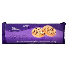 Cadbury chocolate chunk cookies, good substitute for Marks & Spencer Cadbury Uk, Cadbury World, Cadbury Chocolate, Chocolate Chunk Cookies, Dessert Drinks, Desserts, Chibi Food, Irish Recipes, Food Drawing