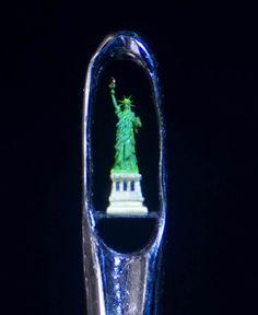 miniature sculptures by Willard Wigan