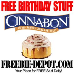 minnie first birthday party Free Birthday Food, Birthday Freebies, It's Your Birthday, Birthday Stuff, Birthday Ideas, Get Free Samples, Cinnabon, Love Is Free, Shopping Hacks