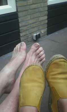 Ontvangen foto van voeten