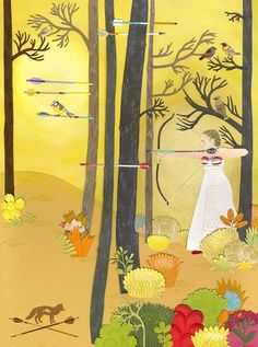Archery In The Woods (PRINT). $24.00, via Etsy.
